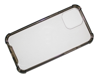 "Wholesale iPhone 12 / 12 Pro 6.1"" Crystal Case with Edge Bumper - Black"