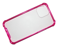 "Wholesale iPhone 12 / 12 Pro 6.1"" Crystal Case with Edge Bumper - Pink"