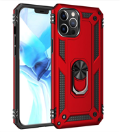 iPhone 12 / 12 Pro 6.1  Magnetic Ring Stand Hybrid Case - Red