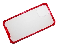 "Wholesale iPhone 12 Pro Max 6.7"" Crystal Case with Edge Bumper - Red"