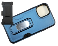 "Wholesale iPhone 12 Pro Max 6.7"" Multi-Function Holster Combo Case - Blue"