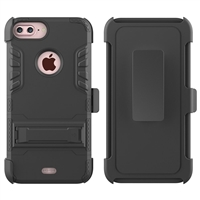iPhone 7 / 8 Plus Armor Holster Combo Case - Black