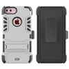 iPhone 7 / 8 Plus Armor Holster Combo Case - Silver