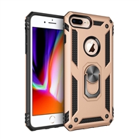 iPhone 7 / 8 Plus Magnetic Ring Stand Hybrid Case - Gold