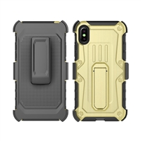 iPhone X Armor Holster Combo Case - Gold