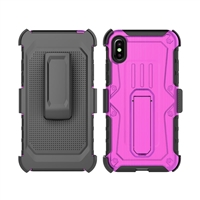 iPhone X Armor Holster Combo Case - Pink