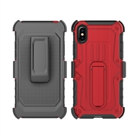 iPhone X Armor Holster Combo Case - Red