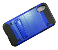 iPhone X Brushed Metallic Armor Case with Magnetic Kickstand - Blue