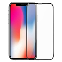 Full Screen Tempered Glass Screen Protector for iPhone X - Black