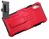 iPhone XS Max Armor Holster Combo Case - Red