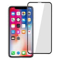 Full Screen Tempered Glass Screen Protector for iPhone XS Max - Black