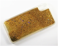 iPhone XS Max Liquid Glitter TPU Case - Gold
