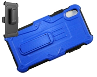 iPhone XR Armor Holster Combo Case - Blue