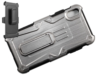 iPhone XR Armor Holster Combo Case - Silver