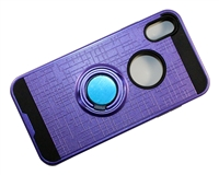 iPhone X Armor Case with Ring Holder Stand and Plate for Magnetic Holder - Purple