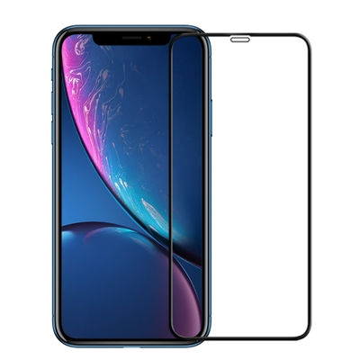 Full Coverage Tempered Glass Screen Protector for iPhone XR / 11 - Black