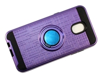 Samsung J7 2018 / J737 / J7 Star / J7 Refine Armor Case with Ring Holder Stand and Plate for Magnetic Holder - Purple