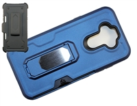LG Aristo 5 / Monarch / Fortune 3 Multi-Function Holster Combo Case - Blue