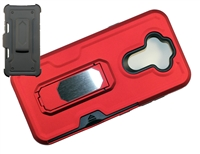 LG Aristo 5 / Monarch / Fortune 3 Multi-Function Holster Combo Case - Red