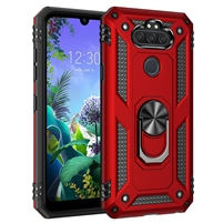 LG Aristo 5 / Monarch / Fortune 3 Magnetic Ring Stand Hybrid Case - Red