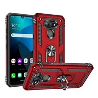 LG Harmony 4 / K41 Magnetic Ring Stand Hybrid Case - Red