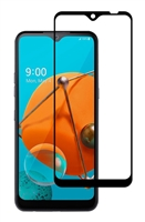 Full Coverage Tempered Glass Screen Protector for LG K51 - Black