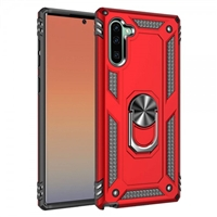 Samsung Note 10 Magnetic Ring Stand Hybrid Case - Red