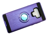 Samsung Galaxy Note 9 Armor Case with Ring Holder Stand and Plate for Magnetic Holder - Purple