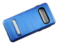 Samsung Galaxy S10 Armor with Magnetic Kickstand Case - Blue