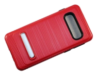 Samsung Galaxy S10 Armor with Magnetic Kickstand Case - Red