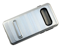 Samsung Galaxy S10 Plus Armor Case with Magnetic Kickstand - Silver