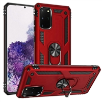 Samsung Galaxy S20 Plus Magnetic Ring Stand Hybrid Case - Red