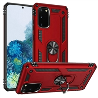 Samsung Galaxy S20 Magnetic Ring Stand Hybrid Case - Red