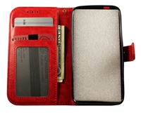 Samsung Galaxy S8+ Plus Leatherette Wallet Case - Red