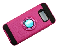 Samsung Galaxy S 8 Armor Case with Ring Holder Stand and Plate for Magnetic Holder - Pink