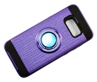 Samsung Galaxy S 8 Armor Case with Ring Holder Stand and Plate for Magnetic Holder - Purple