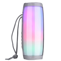 TG-157 Wireless Bluetooth Speaker LED Lights - Silver