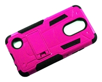 LG Aristo 3 X220 / Aristo 2 X210 / Tribute Dynasty / Tribute Empire / Fortune 2 3in1 Armor Hybrid Case - Pink