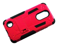 LG Aristo 3 X220 / Aristo 2 X210 / Tribute Dynasty / Tribute Empire / Fortune 2 3in1 Armor Hybrid Case - Red