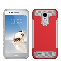 LG Aristo 2 X210 / Tribute Dynasty / Zone 4 CF Armor Case - Red