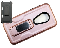 Moto G7 Play XT1952 / REVVLRY Multi-Function Holster Combo Case - Rose Gold