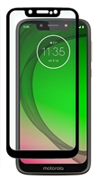 Full Coverage Tempered Glass Screen Protector for Motorola Moto G7 Play XT1952 / REVVLRY - Black
