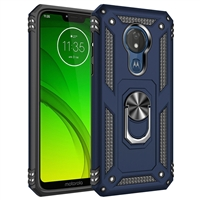 Moto G7 Play XT1952 Magnetic Ring Stand Hybrid Case - Blue