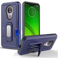 Motorola Moto G7 Power / Supra Xt1955 Holster Combo Case - Blue