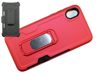 Moto E6 XT2005 Multi-Function Holster Combo Case - Red
