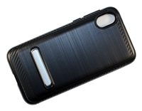 Moto E6 Play XT2005 Armor Case with Magnetic Kickstand - Black