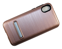 Moto E6 Play XT2005 Armor Case with Magnetic Kickstand - Rose Gold