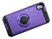 Moto E6 Armor Case with Ring Holder and Plate for Magnetic Holder - Purple