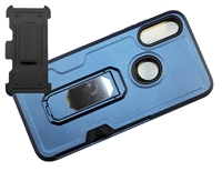 Moto E 2020 / XT2052 Multi-Function Holster Combo Case - Blue