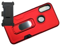 Moto E 2020 / XT2052 Multi-Function Holster Combo Case - Red